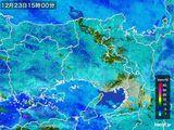 2015年12月23日の兵庫県の雨雲レーダー