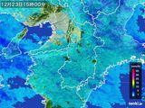 2015年12月23日の奈良県の雨雲レーダー