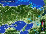 2015年12月25日の兵庫県の雨雲レーダー