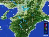 2015年12月25日の奈良県の雨雲レーダー