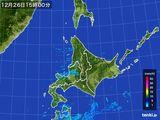 2015年12月26日の北海道地方の雨雲の動き