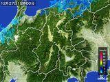 2015年12月27日の長野県の雨雲レーダー