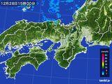 2015年12月28日の近畿地方の雨雲レーダー