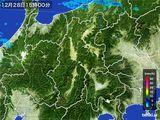 2015年12月28日の長野県の雨雲レーダー