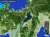 2015年12月28日の滋賀県の雨雲レーダー