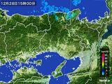 2015年12月28日の兵庫県の雨雲レーダー