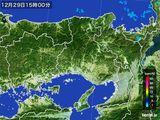 2015年12月29日の兵庫県の雨雲レーダー