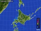 2015年12月30日の北海道地方の雨雲の動き