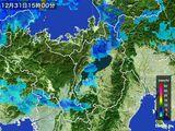 2015年12月31日の滋賀県の雨雲レーダー
