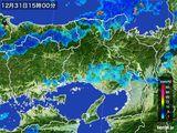 2015年12月31日の兵庫県の雨雲レーダー