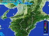 2015年12月31日の奈良県の雨雲レーダー