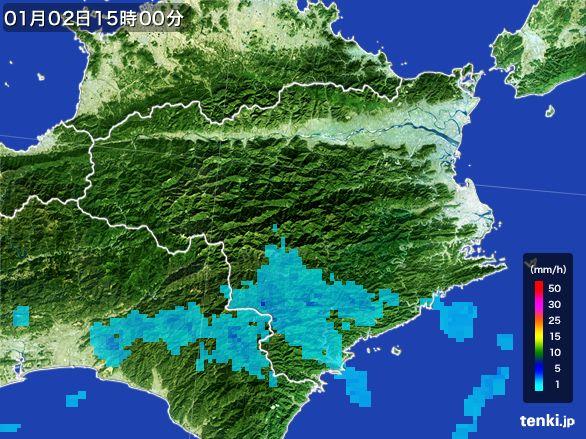 徳島県の雨雲の動き(2016年01月02日)