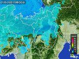 2016年01月05日の滋賀県の雨雲レーダー