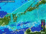 2016年01月05日の広島県の雨雲の動き