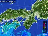 2016年01月06日の近畿地方の雨雲レーダー