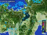 2016年01月07日の滋賀県の雨雲レーダー