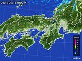 2016年01月10日の近畿地方の雨雲レーダー