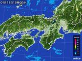 2016年01月11日の近畿地方の雨雲レーダー