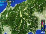 2016年01月11日の長野県の雨雲レーダー