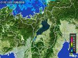2016年01月15日の滋賀県の雨雲レーダー