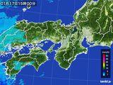 2016年01月17日の近畿地方の雨雲レーダー