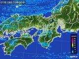 2016年01月19日の近畿地方の雨雲レーダー