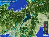 2016年01月19日の滋賀県の雨雲レーダー