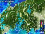 2016年01月23日の長野県の雨雲レーダー