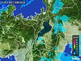 2016年01月23日の滋賀県の雨雲レーダー