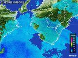 2016年01月23日の和歌山県の雨雲の動き