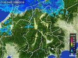 2016年01月24日の長野県の雨雲レーダー