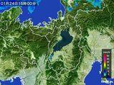 2016年01月24日の滋賀県の雨雲レーダー
