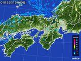 2016年01月25日の近畿地方の雨雲レーダー