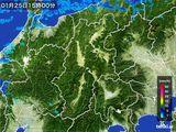 2016年01月25日の長野県の雨雲レーダー