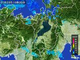 2016年01月25日の滋賀県の雨雲レーダー