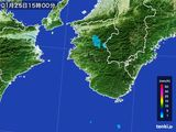 2016年01月25日の和歌山県の雨雲の動き