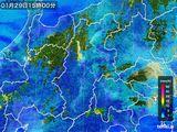 2016年01月29日の長野県の雨雲レーダー
