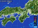 2016年01月30日の近畿地方の雨雲レーダー