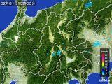 2016年02月01日の長野県の雨雲レーダー