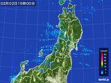 2016年02月02日の東北地方の雨雲レーダー