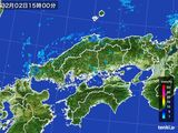 雨雲レーダー(2016年02月02日)