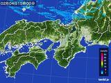2016年02月04日の近畿地方の雨雲レーダー