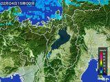 2016年02月04日の滋賀県の雨雲レーダー