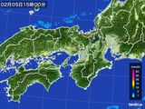 2016年02月05日の近畿地方の雨雲レーダー