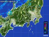 2016年02月06日の関東・甲信地方の雨雲レーダー