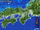 2016年02月06日の近畿地方の雨雲レーダー