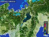 2016年02月06日の滋賀県の雨雲レーダー