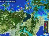 2016年02月09日の滋賀県の雨雲レーダー