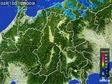 雨雲レーダー(2016年02月10日)