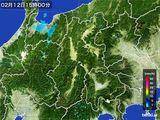 2016年02月12日の長野県の雨雲レーダー